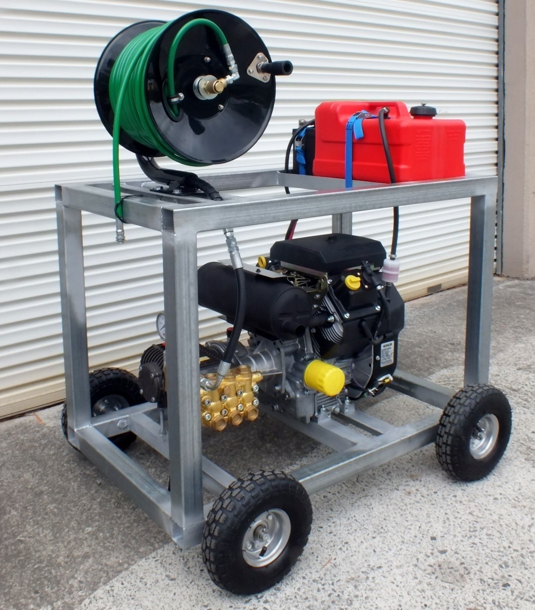 OUT OF STOCK, NEW STOCK AUG 2020 Kohler 20HP V Twin & Comet 4000PSI 20LPM Sewer Drain Cleaner Jetter Hose & Reel