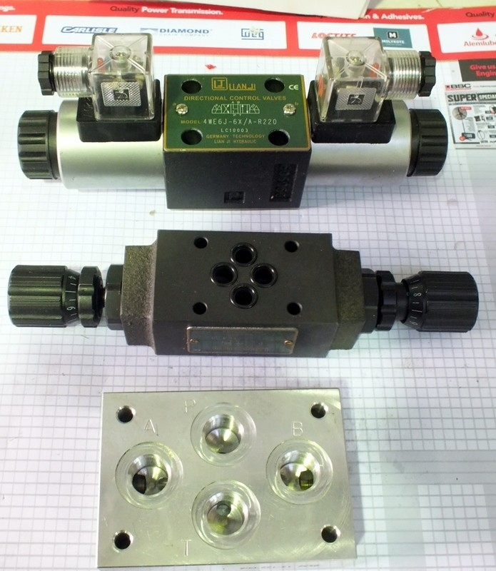 HYDRAULIC SOLENOID VALVE CETOP 5 12VDC OR 24 VDC 80LT/MIN 210 BAR