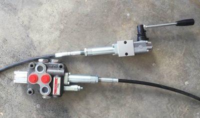 Hydraulic Flow Control Valve 1 Spool Hand Control cable TIPPER TRUCKS MACHINE