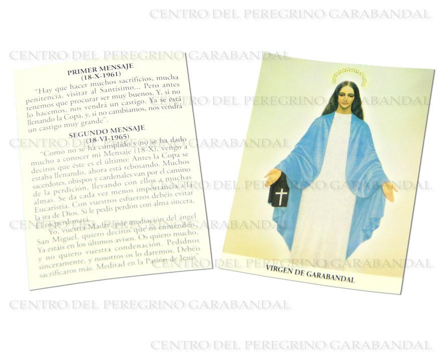 Estampa Virgen Garabandal