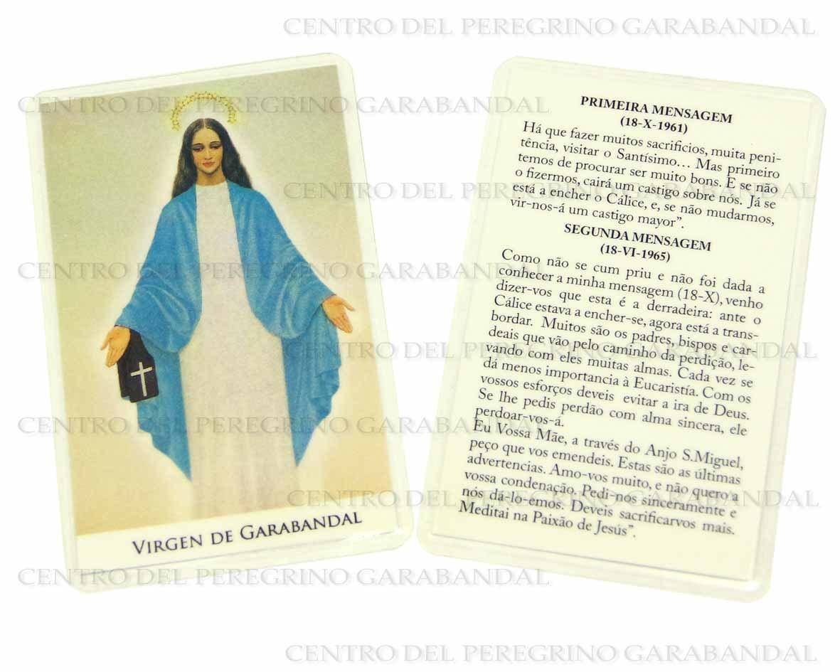 Estampa Plastificada Virgen Garabandal