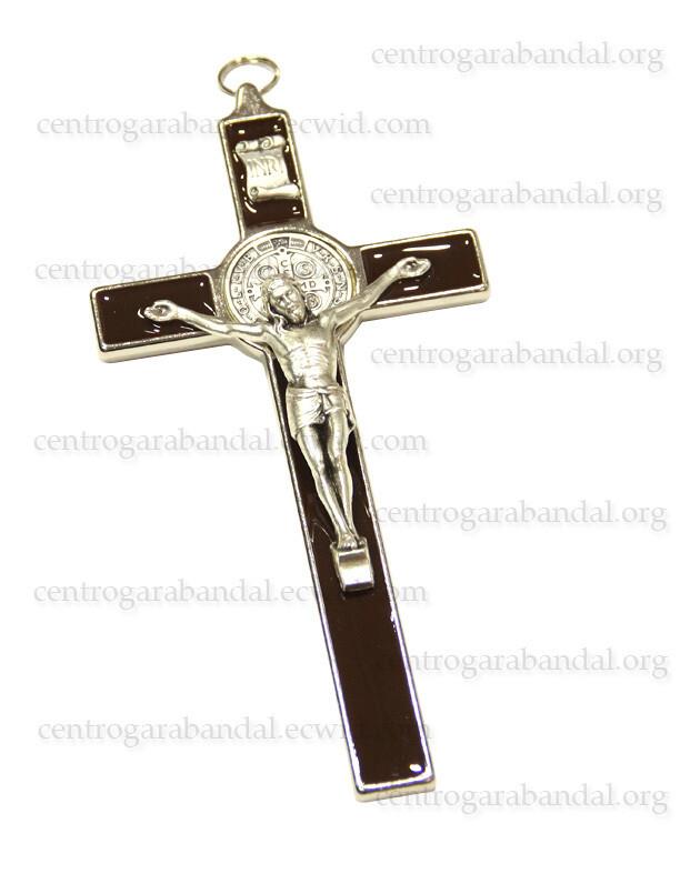 Enamelled Saint Benedict Cross 21cm