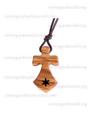 Cross of Mt Carmel with cord