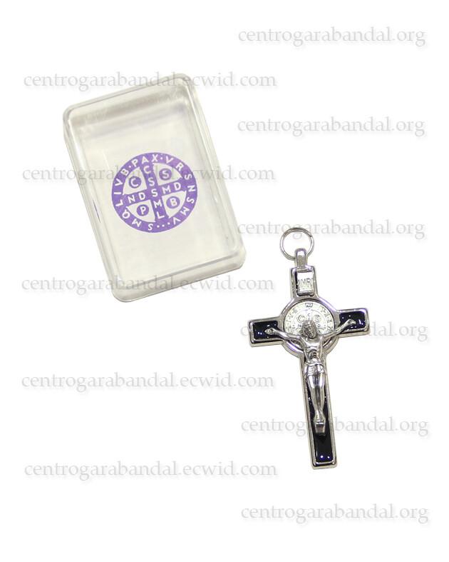 Enamelled Saint Benedict Cross 8cm