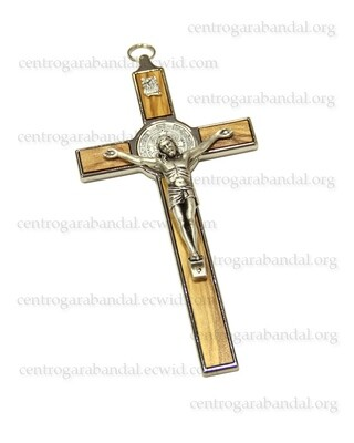 Olive Wood Saint Benedict Cross 8cm
