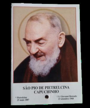 Estampa San Pío de Pietrelcina (CON RELIQUIA)