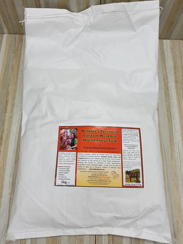Belinda's  Premium Custom Weather Shield Loose Lick  5kg Bag