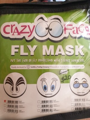 Crazy Face Fly Mask