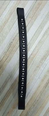 Black leather bling browband 12