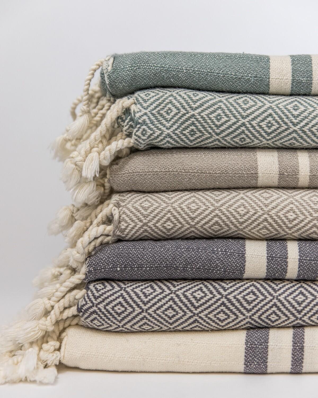 Mandalina Luxe Natural Hand Towels (Modern Desert Collection)