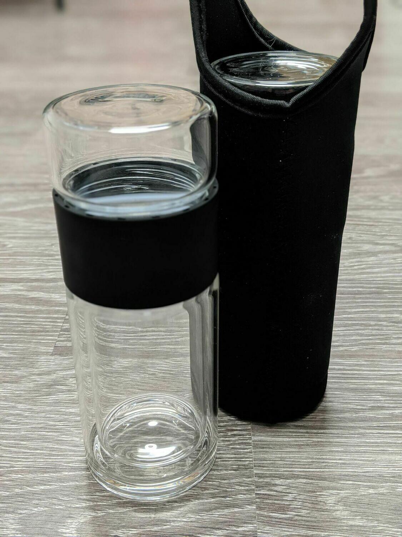 Infuseur en verre à double paroi avec manchon isolant