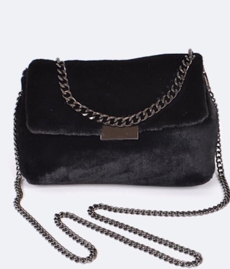 Velour Crossbody Bag