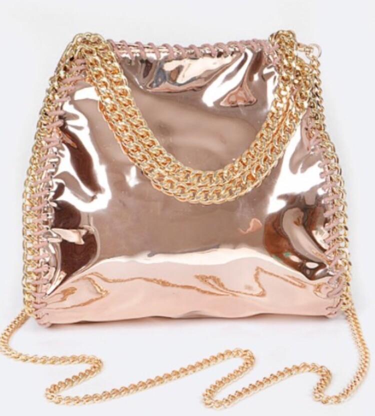 Laced Metallic Crossbody Bag