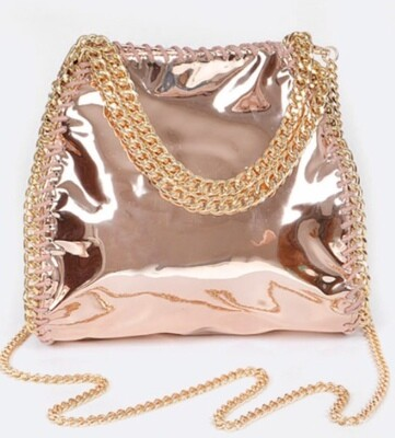 Laced Metallic Crossbody Bag