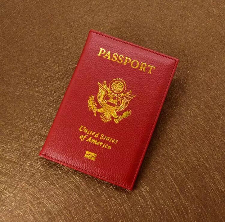 USA Passport Cover - Red