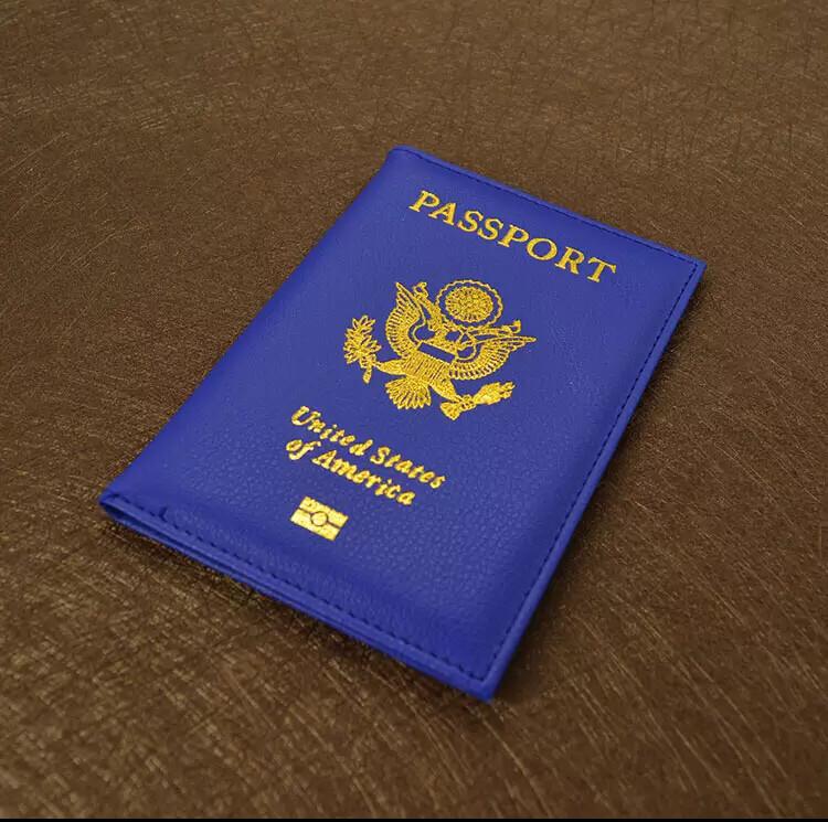 USA Passport Cover - Royal Blue