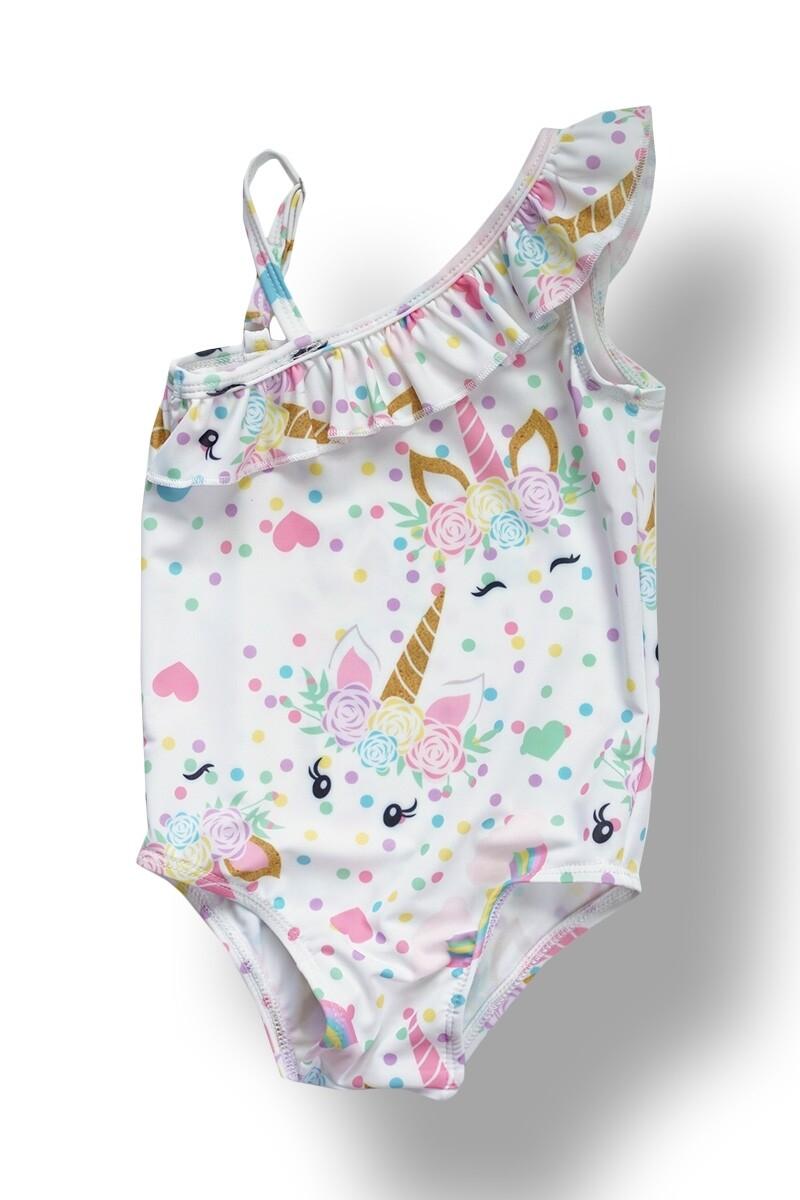 1 Piece Unicorn Swimsuit - XS/0-3 Months