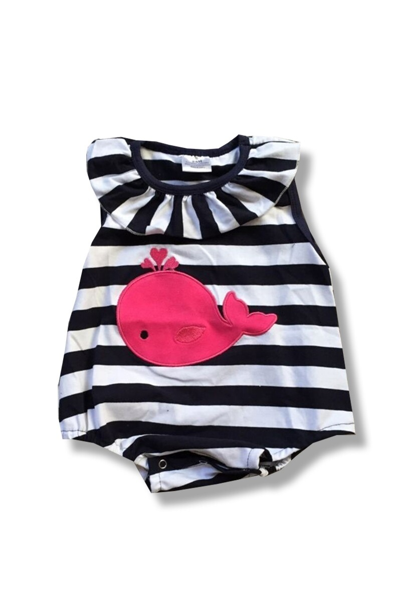 Whale Romper - Size 6-12 Months
