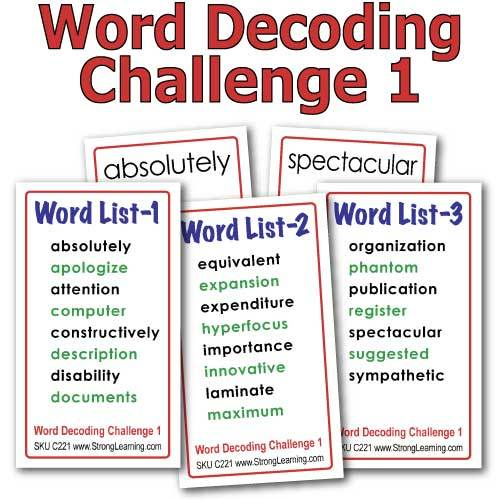 Challenge Words 1 -- 4-in-one Card Game