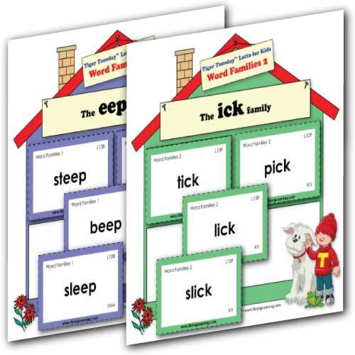 Word Families 1 & 2 - Fill-the-House Game 2-Game Set -- SPECIAL Save $10.00