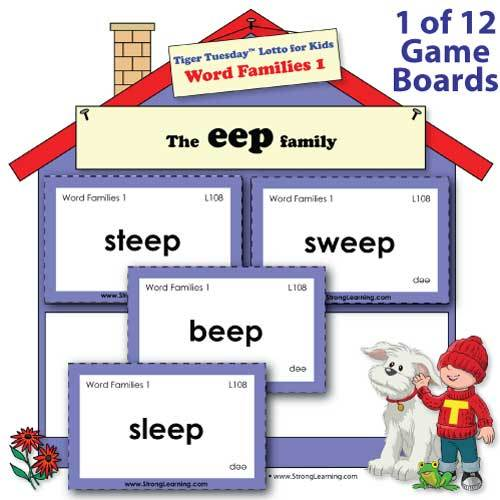 Word Families 1 -- Fill-the-House Game