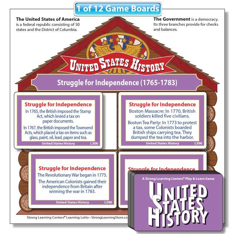 "United States History ""Fill-the-House"" Game"