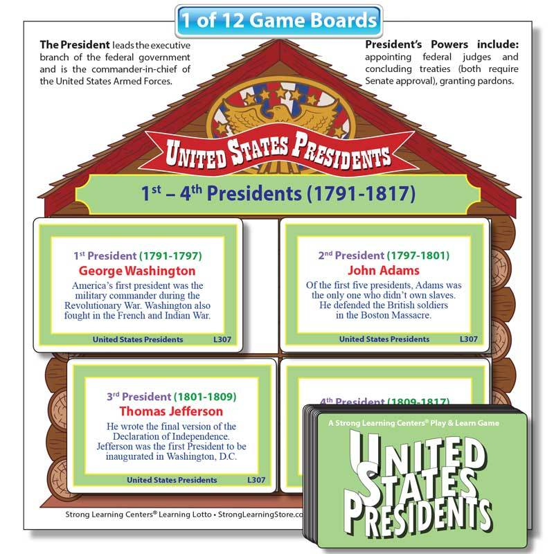 """United States Presidents """"Fill-the-House"""" Game"""