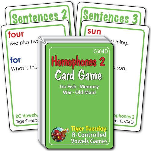 Card Game - Homophones 2 (4 games in 1)