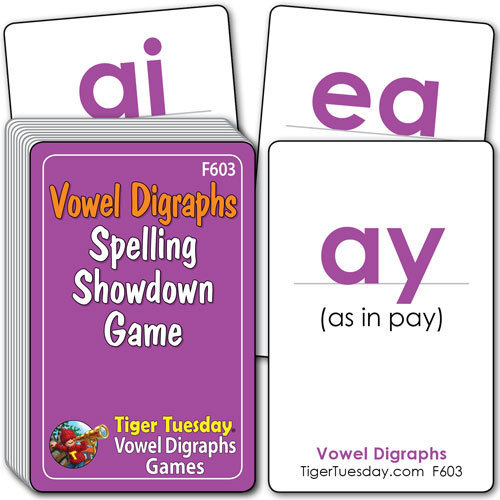 Flashcards/Spelling Showdown Game - Vowel Digraph Patterns