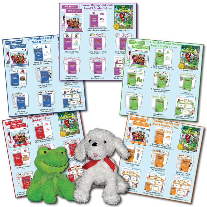 Tiger Tuesday® Reading Program -- All 5 Reading Modules (3 Options)
