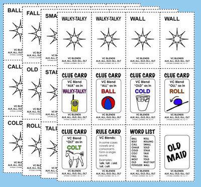 Phonics Games - Vowel Consonant  Blends - ALL, ALK, OLD, OLT, OLL