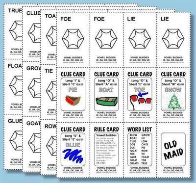 Phonics Games - Vowel Digraphs - IE, OA, OE, OW, UE