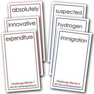 Challenge Words 4-in-one Card Games -- Two Game Set SPECIAL SAVE $5