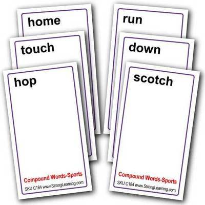 Compound Words for Sports -- 4-in-1 Card Game