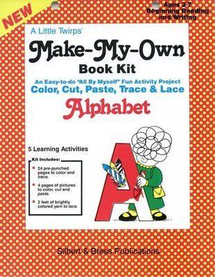 Book Kit - Alphabet. Children love making their own book!