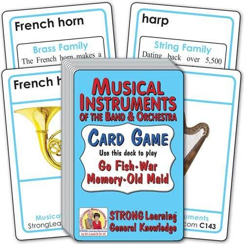Musical Instruments of the Band & Orchestra Card Game