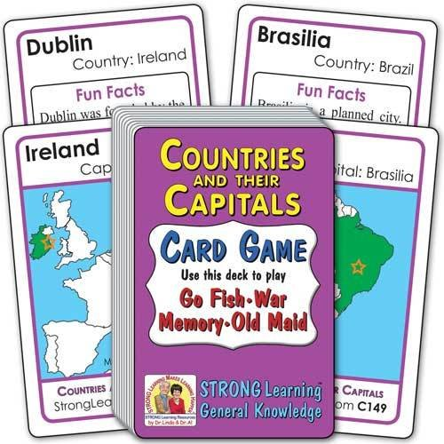 Countries and their Capitals Card Game