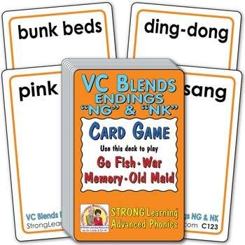 """VC Blends - Endings """"NG"""" & """"NK""""   Ages 8-11+"""