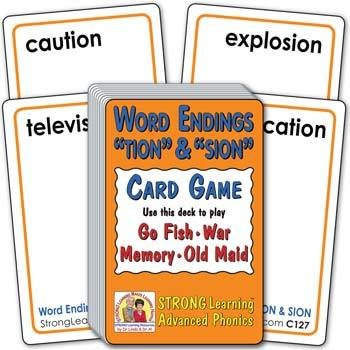 """Word Endings """"TION"""" & """"SION"""" 