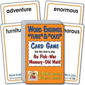 "Word Endings ""TURE"" & ""OUS"" 