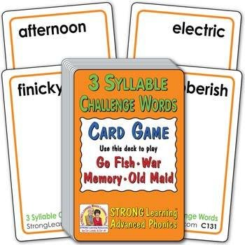 3 Syllable Challenge Words   Ages 8-11+