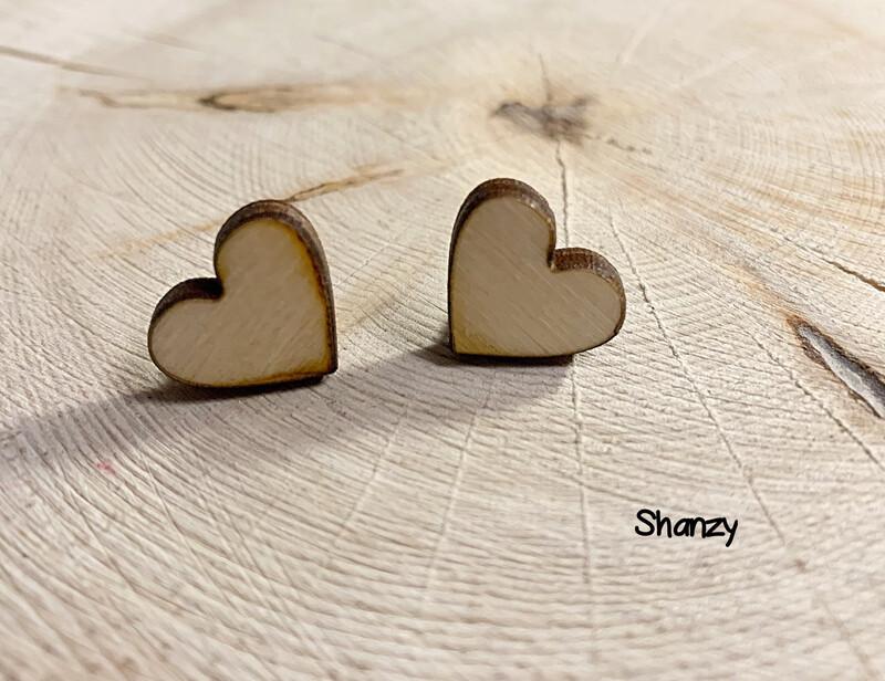 Heart Wood Earrings