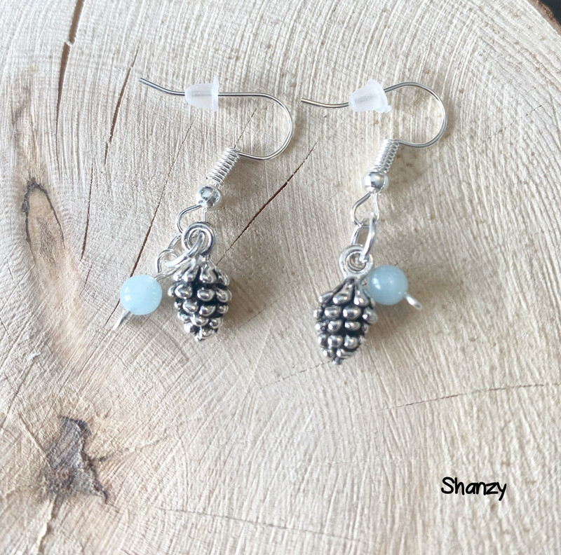 Jade Sm Pine Cone Earrings
