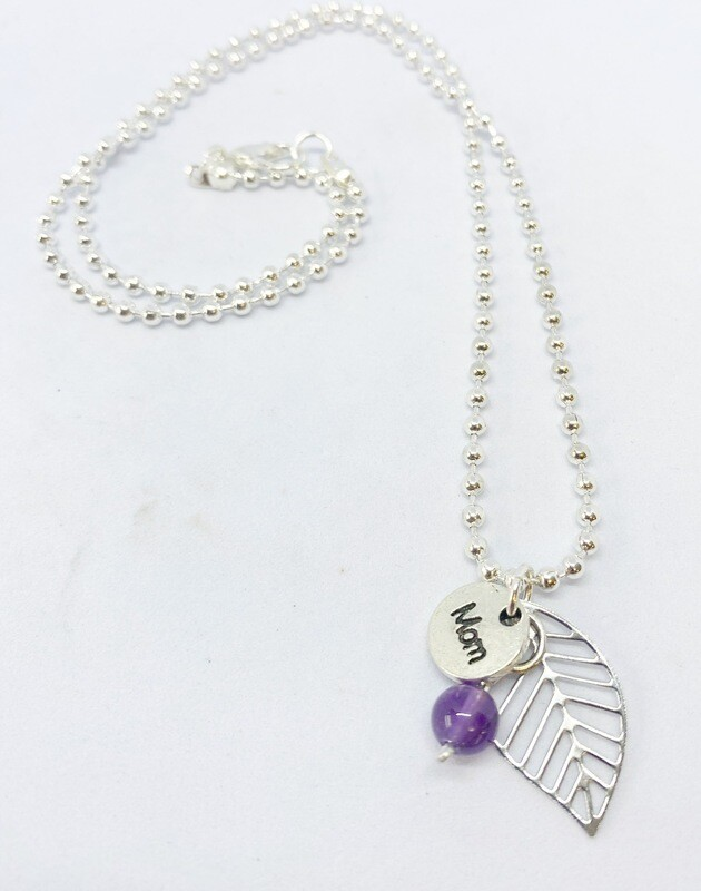 Amethyst Necklace 18""