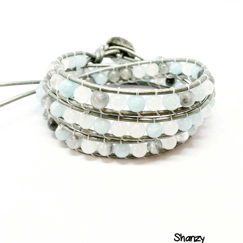 Jade Quartz Wrap Bracelet