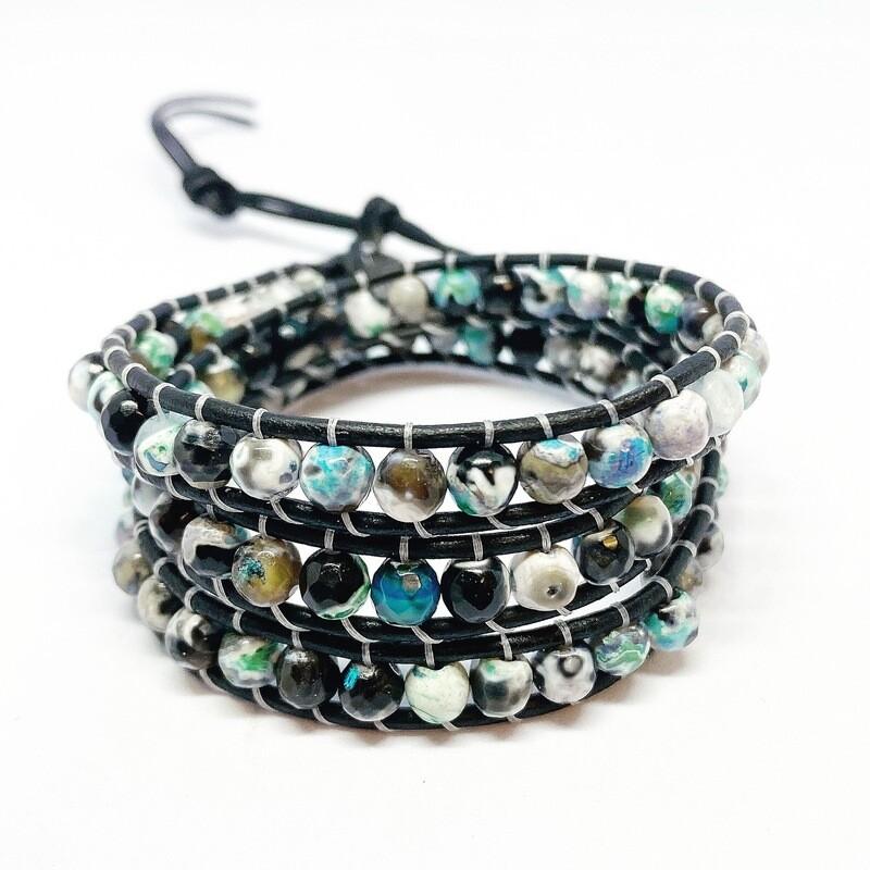 Agate Wrap Bracelet