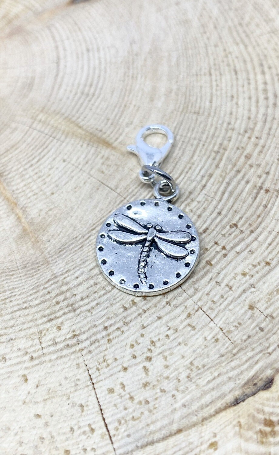 Dragon Fly Circle Charm