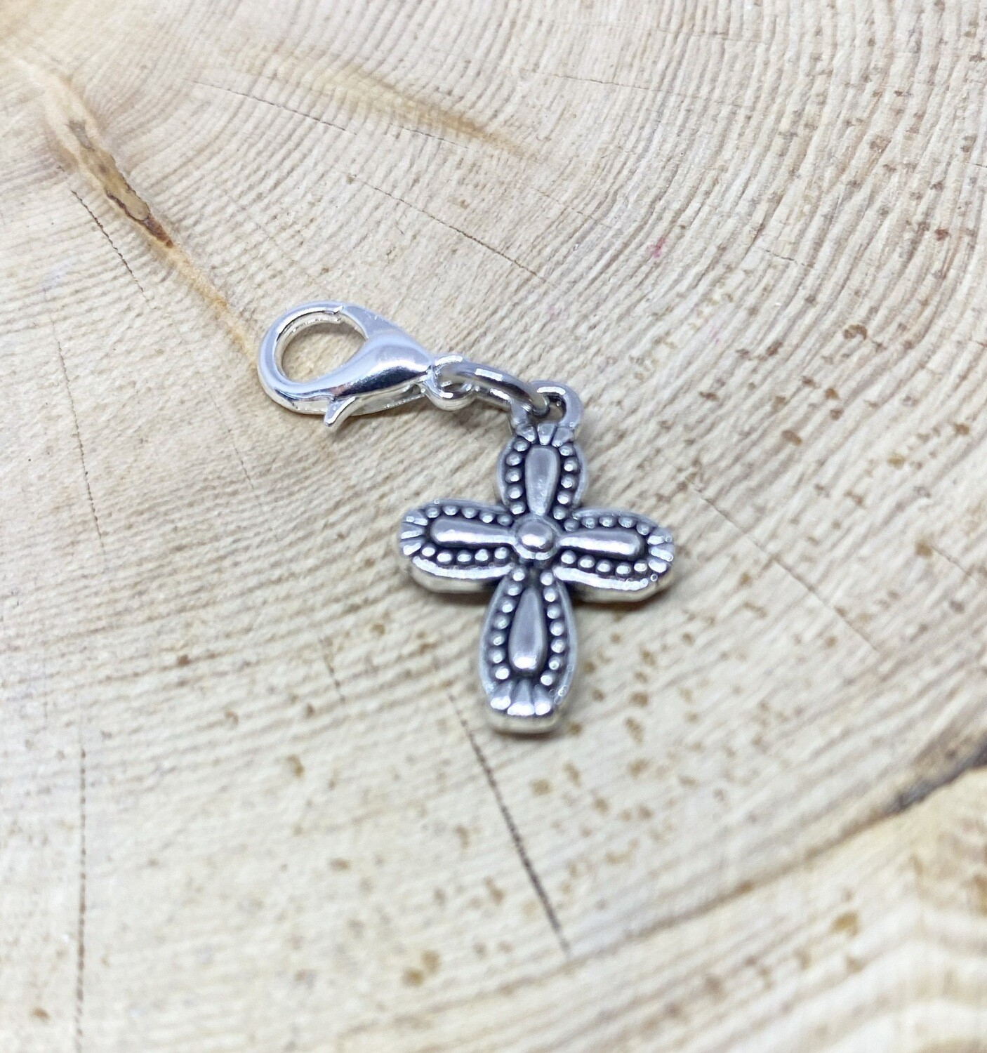 Small Curved Cross Charm