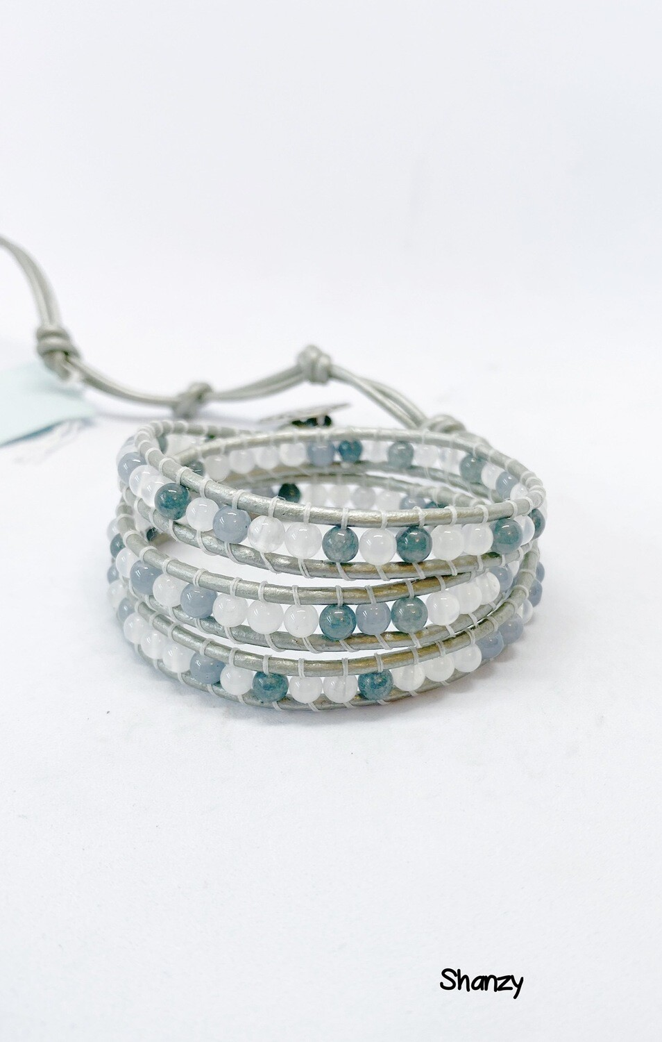 Jade Mix Wrap Bracelet