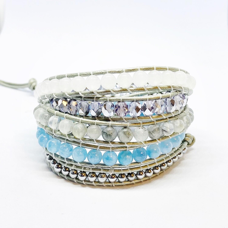 Jade, Quartz 5 Wrap Bracelet